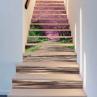 24 Design 3D Stair Sticker DIY Self Adhesive Waterproof Tile Wall Sticker Mural Wallpaper Removable Kitchen Ceramic Stickers