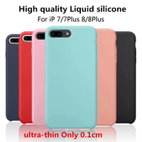 High Quality Ultra Thin Liquid Silicone Soft Shell For Iphone 8 8 Plus Case Luxurious Suppleness