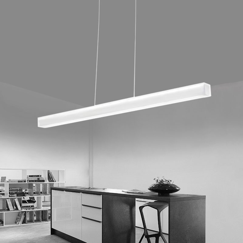 Modern frameless acrylic led pendant light creative simple for Simple suspension hanging