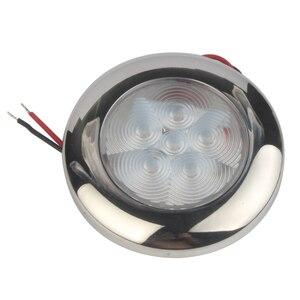 Image 5 - Светодиодный светильник 12 В для морской лодки, яхты, домов на колесах, корпус из нержавеющей стали, белый, синий, купольный светильник, внутренняя лампа