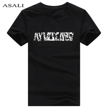 Classical T-shirts Culture Letter Printed Shirts Design Tops&Tees Cotton T-Shirts 2017 Fashion Summer Top Tees Men Streetwear(China)