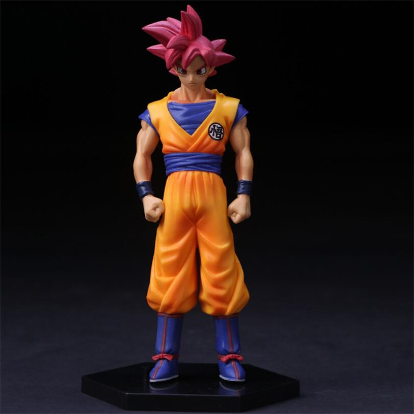 Cartoon Anime Dragon Ball Red Hair Goku PVC Toys Action Figure Model Juguetes Kids Toys Best Christmas Collection Gifts
