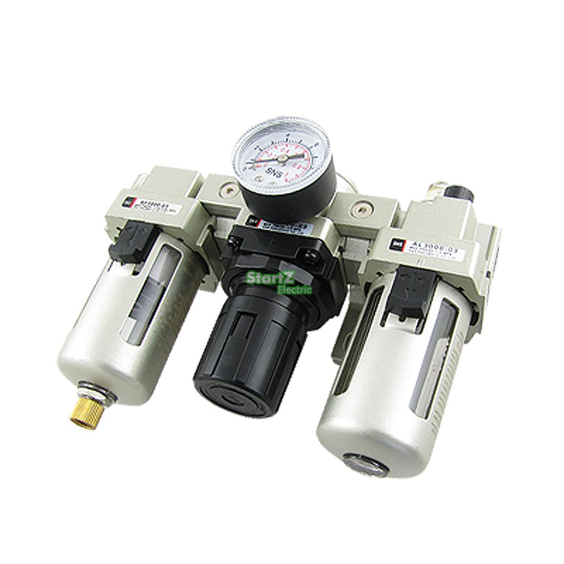 AC4000-04D G1/2''  Automatic Drain Type Air Source Treatment Unit Pneumatic Lubricator+Filter+Regulator japan smc original genuine source of gas source processor ad402 04 end of the automatic drain water separator