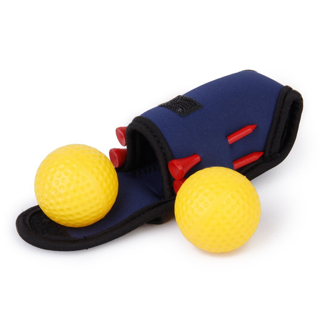 Golf ball holder bag Mini Tees 2 Ball 4 Tees Gift Set
