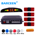 Universal LED car parking sensor 2 in 1 set with led display and 4 small car parking sensor Detecting distane 3 m promotion
