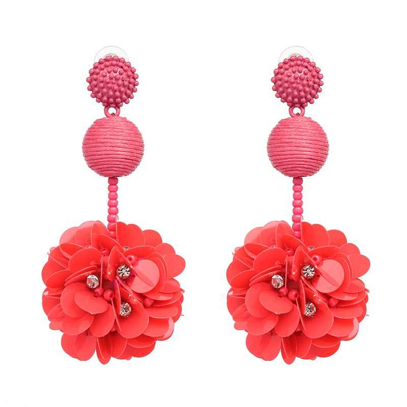 JURAN Fashion Big Flowers Drop Earrings Jewelry Charm Large Long Statement Earrings for Women Bohemian Wedding Earrings Gift