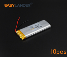 10pcs/Lot 3.7V 2840mAh Rechargeable li Polymer Li-ion Battery For mouse recorder speaker RC toys headephone Remote 803480 083480