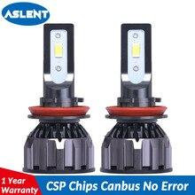 ASLENT 18000LM H11 H1 H4 H7 LED Canbus No Error Car Headlight Bulbs 90W 6500K 9004 9007 9005 9006 H8 Auto Lamp Fog Lights 12V