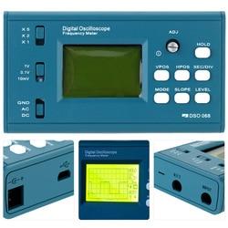 LCD cyfrowy oscyloskop miernik częstotliwości zestaw DIY z profesjonalnym interfejsem USB sondy BNC DSO 20MSa/s 3MHz w Oscyloskopy od Narzędzia na
