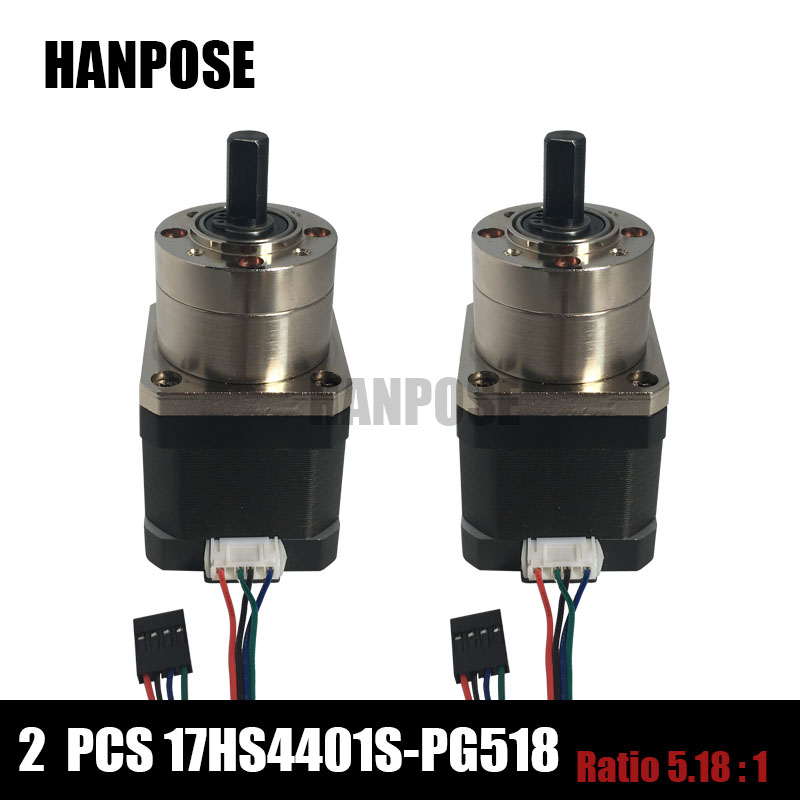 ФОТО Free shipping 2pcs Extruder Gear Stepper Motor Ratio 5:1 Planetary Gearbox Nema 17 Step Motor OSM Geared For 3D Printer