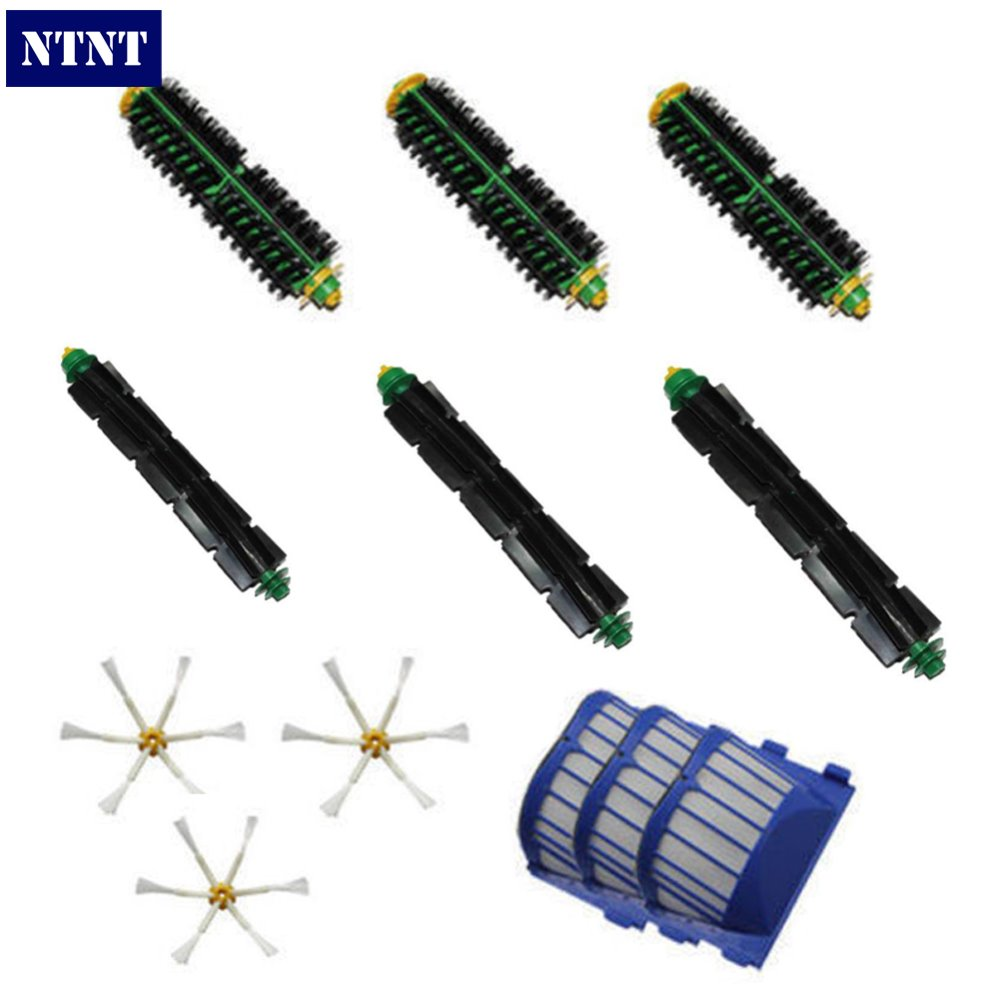 NTNT Free Post New Flexible beater bristle Side Brush Filter kit For iRobot Roomba 500 Series