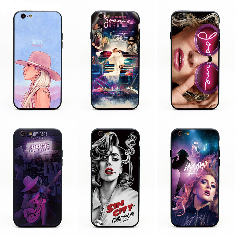 LADY GAGA music phone cases TPU+PC Black covers for iPhone X 6 7 8 plus 5 5s 6s se for Apple X best diy case