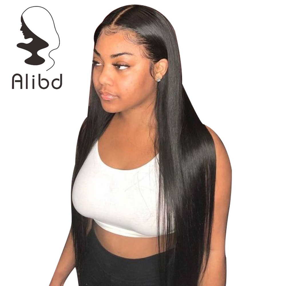 Alibd 13*6 Lace Front Human Hair Wigs Straight Glueless Lace Wig With Baby Hair Brazilian Remy Hair For Black Women