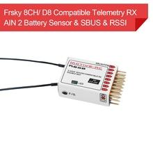 Frsky Sensor de tensión receptor de telemetría Compatible con 2,4G 9CH D8 PPM SBUS AIN2 para X9D Plus iRange Jumper T16 DJT XJT transmisor