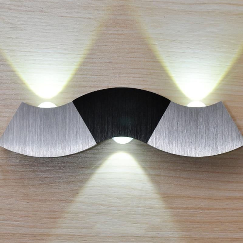 Modern minimalist creative led aluminum wave wall lamp bedroom living room corridor bedside lamps wf429950Modern minimalist creative led aluminum wave wall lamp bedroom living room corridor bedside lamps wf429950