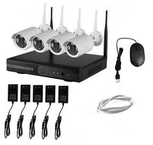 4CH NVR WIFI CCTV Security Camera System 4PCS 1080P HD Outdoor Wireless CCTV Kit Video Surveillance System P2P ONVIF