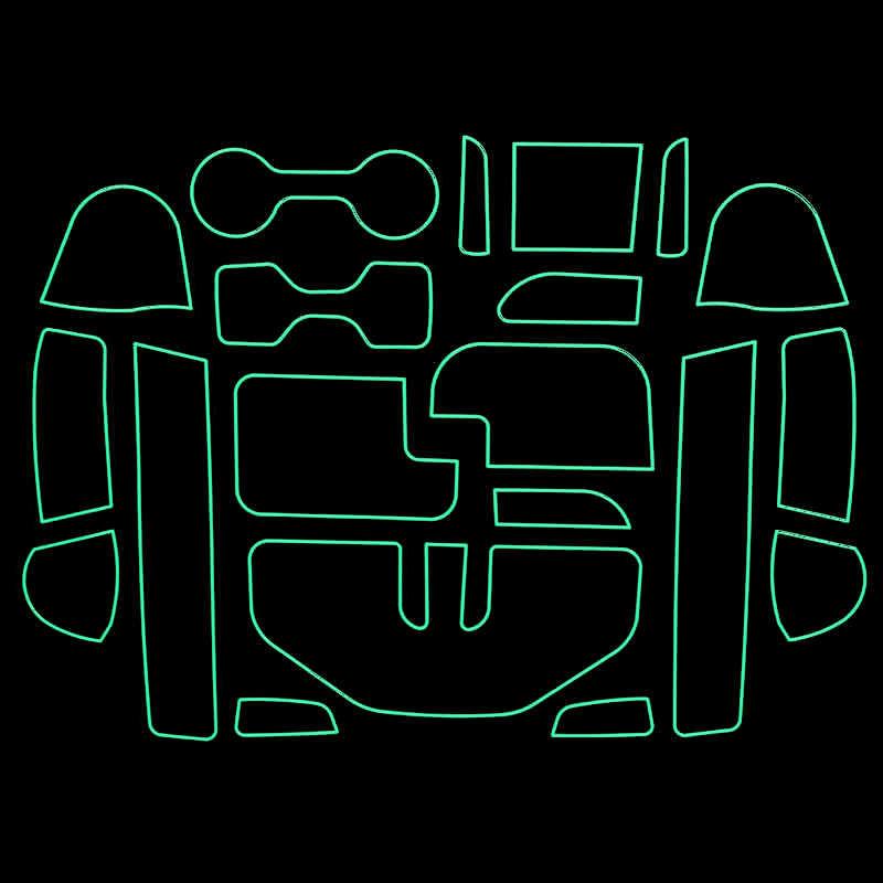 20 шт./компл. для Nissan NAVARA D23 NP300 2015-2016 Гейт игровой коврик Нескользящая подстаканники Нескользящие Салонные подложки Стикеры аксессуары