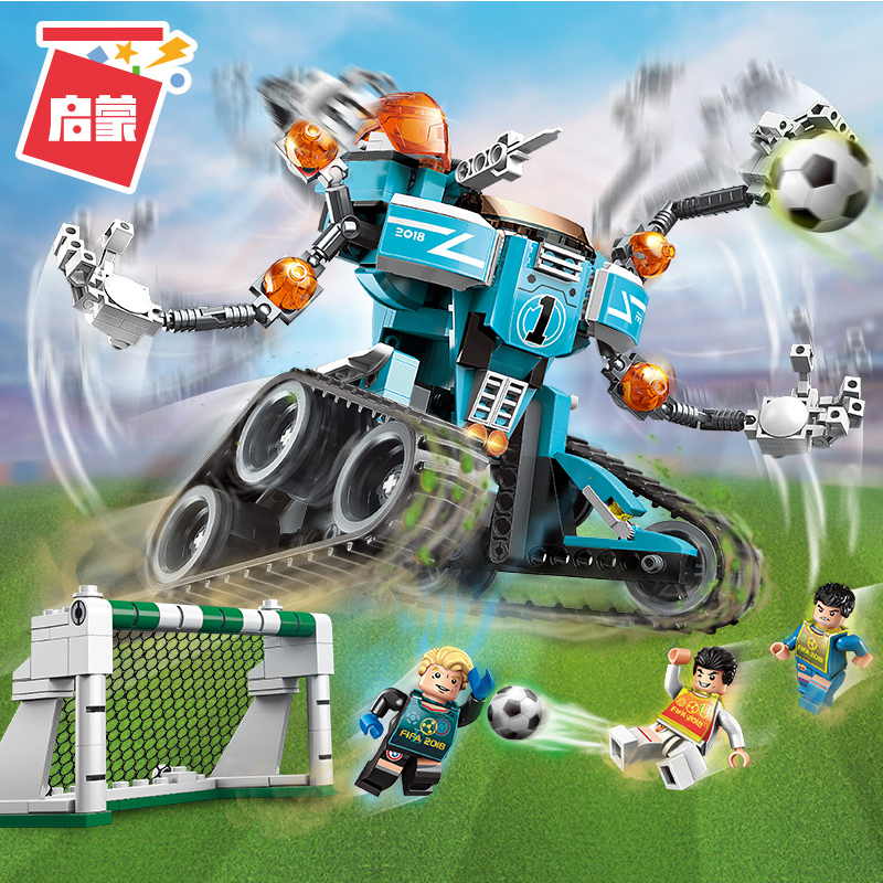 Enlighten Building Block Super Soccer World Cup Strongest Goalie 3 Figures 351pcs Educational Technic Bricks Toys For Boy Gift