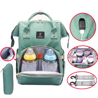 Diaper Bag USB Large Capacity Nappy Bag Waterproof Mom Maternity Travel Backpack Desinger Nursing Bag Baby