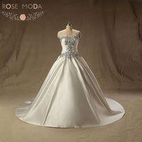 Роскошный Кристалл корсет принцессы бальное платье Кружево на спине церкви свадебное платье Vestido De Noiva реальные фотографии