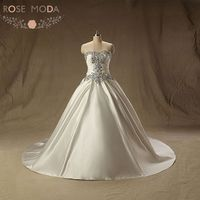 Luxury Crystal Corset Princess Ball Gown Lace Up Back Church Wedding Dress Vestido De Noiva Real Photos