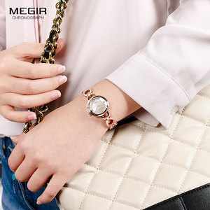 Image 2 - Relogio feminino Women Watches MEGIR Luxury Brand Girl Quartz Watch Casual Leather Ladies Dress Watches Women Clock Montre Femme