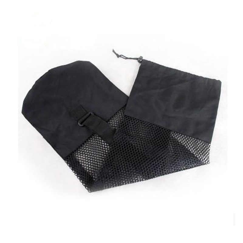 ポータブル黒ヨガマット防水バックパックバッグナイロンピラティスキャリアメッシュ調節可能なストラップスポーツバッグ
