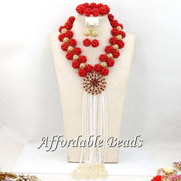 Nigerian Bridal Jewelry Set Newest Wedding African Beads Set Best Item Wholesale HEB084Nigerian Bridal Jewelry Set Newest Wedding African Beads Set Best Item Wholesale HEB084