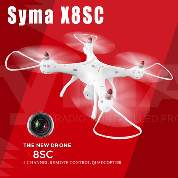 NEW Arrival Syma X8SC With 2MP HD Camera 2.4G 4CH 6Axis Altitude Hold Headless Mode RC Quadcopter RTF