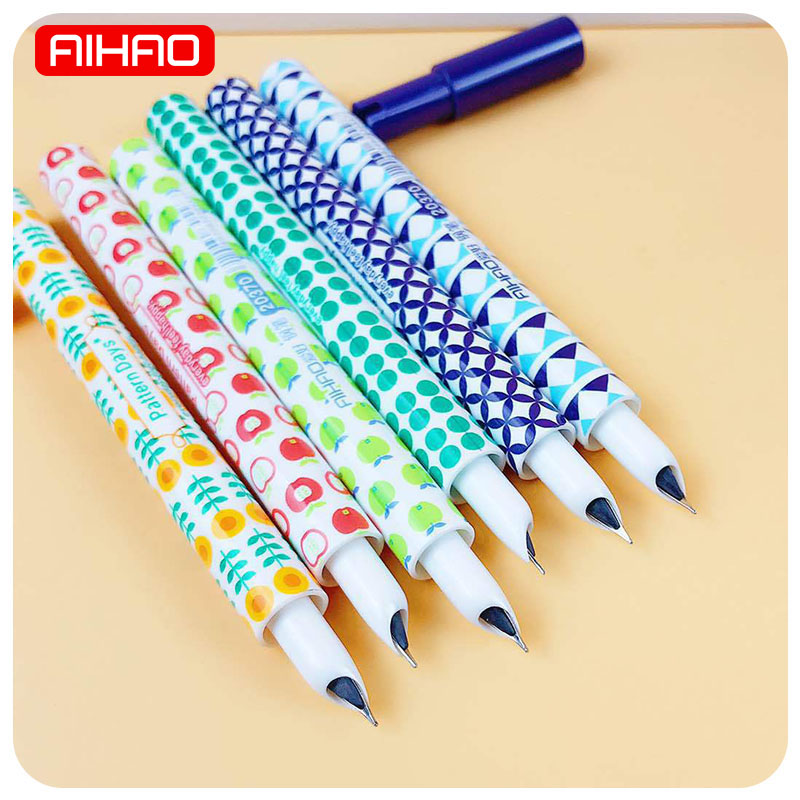 AIHAO Student Mini Cute Kawaii Dot Flower Plastic School Ink Fountain Pen For Calligraphy Writing Korean Stationery 417