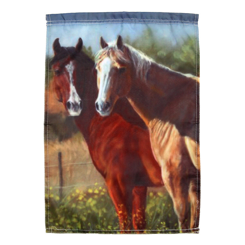 Top Selling Horse Grass Garden Flags Liene Yard Hanging House Decoration  Flag Printed Pattern Portable Banner