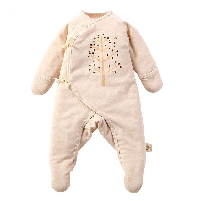 df097441e Newborn Baby Girl Boy Cotton Rompers Pajamas Clothes Infant Toddler Girls  Protection Cartoon Printed Onesie Jumpsuit
