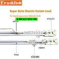5M Quality Automatic Electric Curtain Track for Xiaomi aqara/Dooya KT82/DT82 motorr,Super quite Curtain track for Smart Home