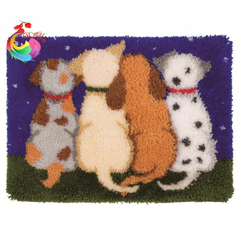 Hook Kit Rug Carton Cat de broderie diy DIY seturi de perii - Arte, meșteșuguri și cusut