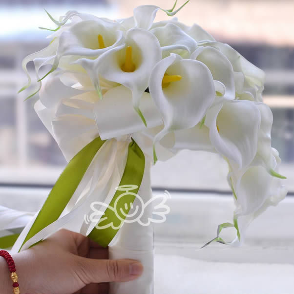 artifical calla flowers Wedding Bouquet Bridal Bridesmaid Flower wedding bouquet white bridal bouquets wedding accessories FW165