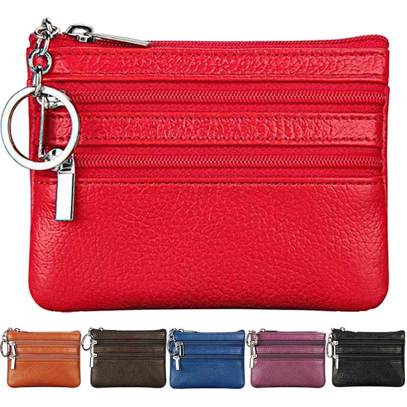 Womens PU Leather Coin Purse Fashion Small Zipper Bag Mini Wallet Pocket Credit Card Case BS88