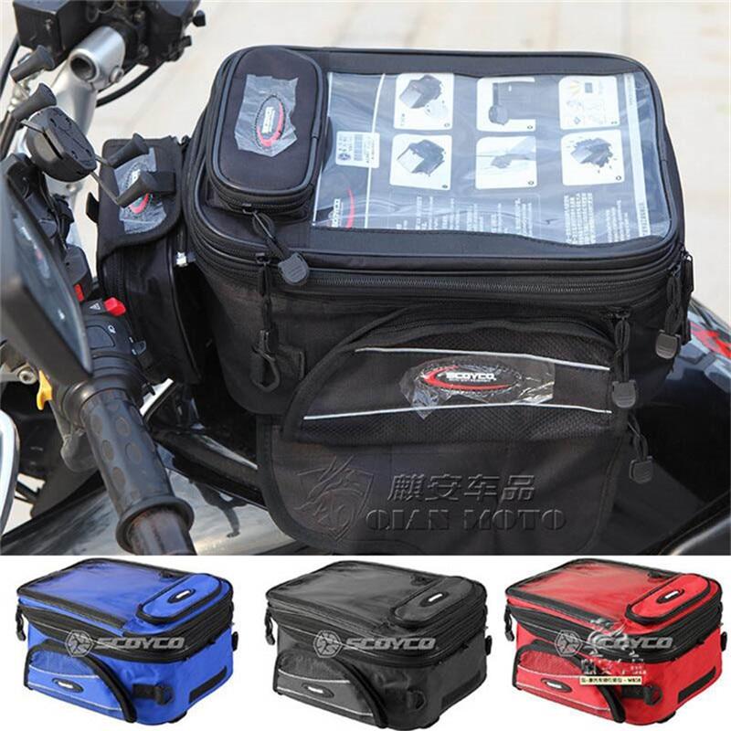 все цены на motorbike waterproof magnetic universal motocross head bag Motorcycle Riding Travel Luggage bag Motorbike Oil Fuel Tank Bags онлайн