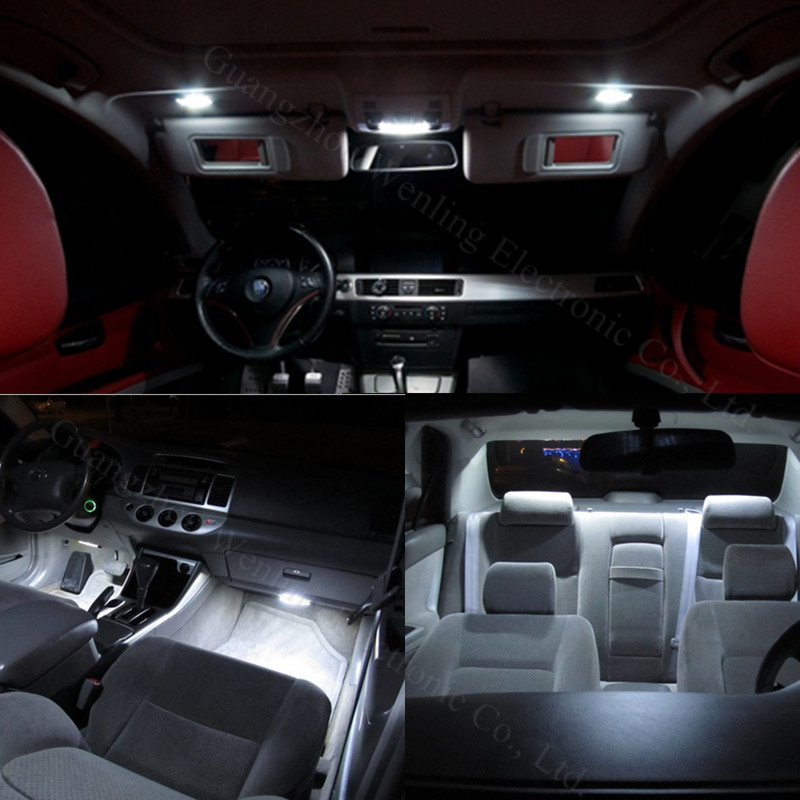 WLJH 18x White No Error Canbus Car LED Package Interior Light Kit ...
