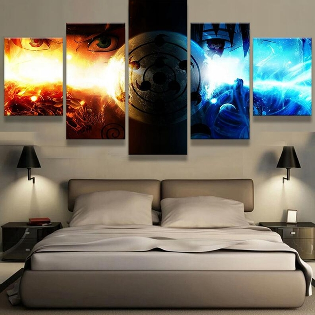 One Piece HD Prints 5 Pieces Canvas Posters Wall Art