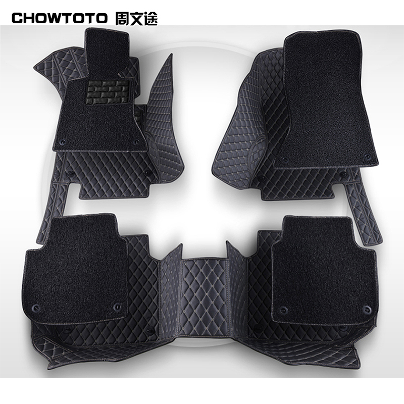 CHOWTOTO AA Double Layer!Custom Floor Mats For Peugeot 508 408 407 308 307 301 206 207 RCZ Wear resisting Durable Carpets Carmat