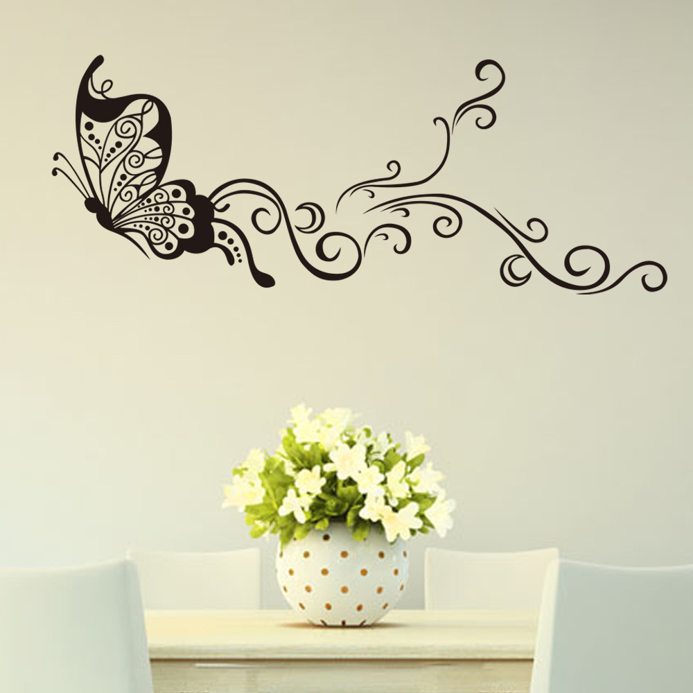 Buy butterfly wall stickers creativity for Stickers para pared decorativos