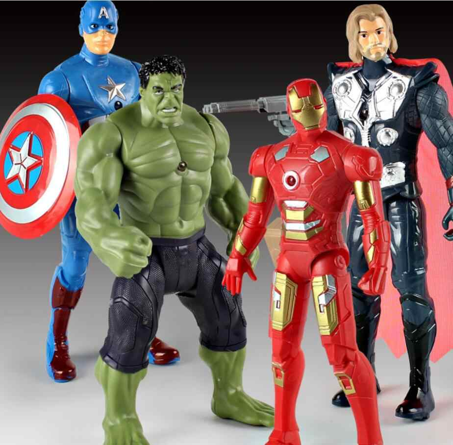 Marvel Avengers 4 Endgame Figura Thor Odinson Hulk Capitano Banner Iron man Tony Stark Figurine Modello IN PVC Doll Collection Giocattolo