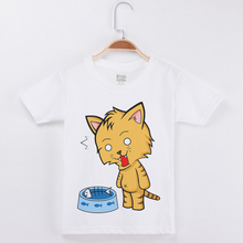 Funny Cat Kids T Shirt White Tshirt O-Neck Short Sleeve Cotton Cartoon Print Fashion Popular Girls T-Shirt Children Boy Tops Tee shintimes hole print 6 cartoon t shirt women tshirt one size 2019 tops summer short sleeve female t shirt cotton tee shirt femme