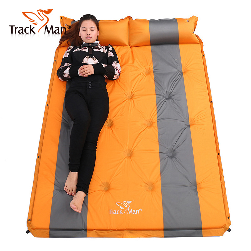 2017 192*132cm <font><b>on</b></font> sale 2 persons PVC automatic inflatable mattress cushion outdoor camping mat moisture pad