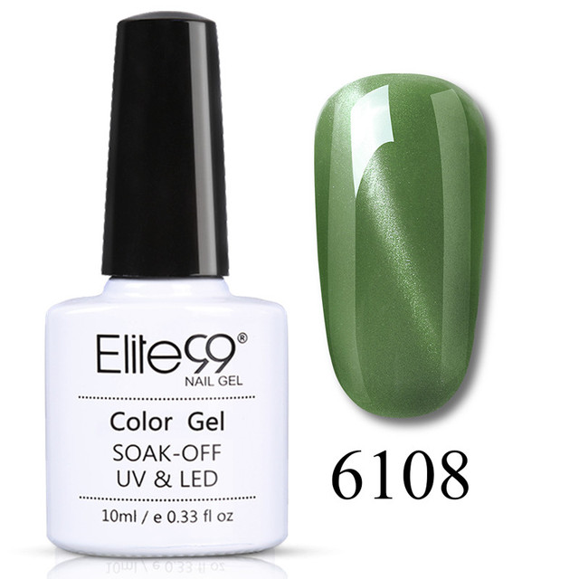 Elite99 Pure Series Gel Lacquer Magnetic Cat's Eye UV Gel Nail Polish Jade Effect Permanent Enamel Soak Off Nail Primer 10ML 4