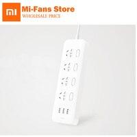 New Xiaomi Mijia Power Socket Strip With Control Switch 3 USB 4 Ports Big Plug Extension