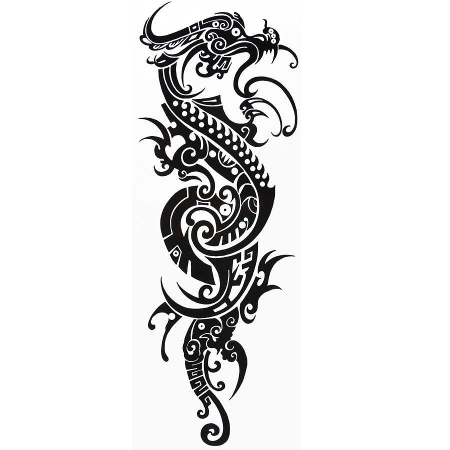 1545 см большой дракон временные татуировки наклейки сексуальные продукты мужские