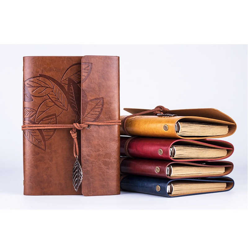 5inch 7inch(A7/A6) Loose-leaf Photo Album PU Leather Kraft Paper Maple leaves Cover Diary Notebook Vintage Cover Traveler Album