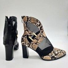 JINJOE women shoes Mesh Ankle Boots High Heel Short sandals Boots Sexy Dress pumps Super Comfortable party Gladiator shoes