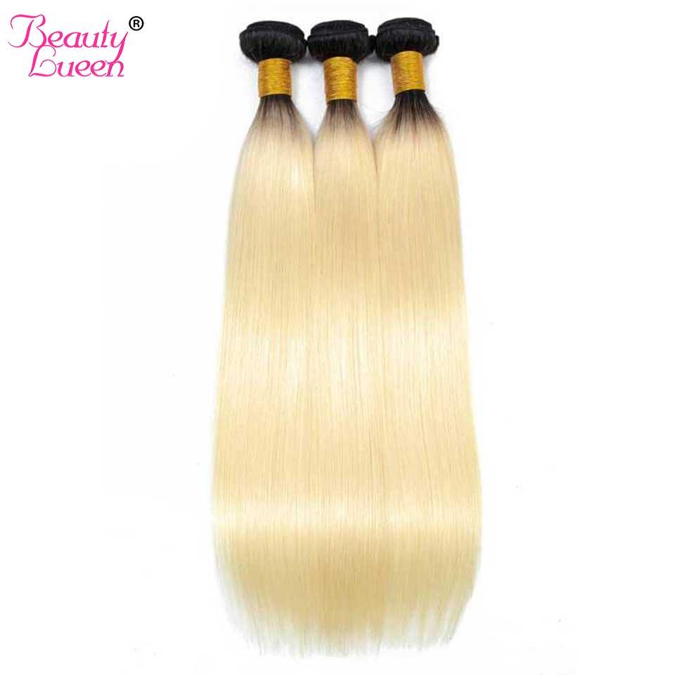 10 Связки T1B/613 блондинка бразильские прямо Ombre Hair Связки Реми Ombre натуральные волосы Extensons цена оптовой продажи Ombre блондинка